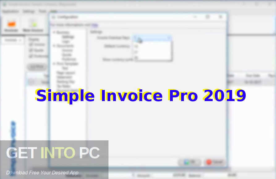 Simple Invoice Pro 2019 Free Download-GetintoPC.com