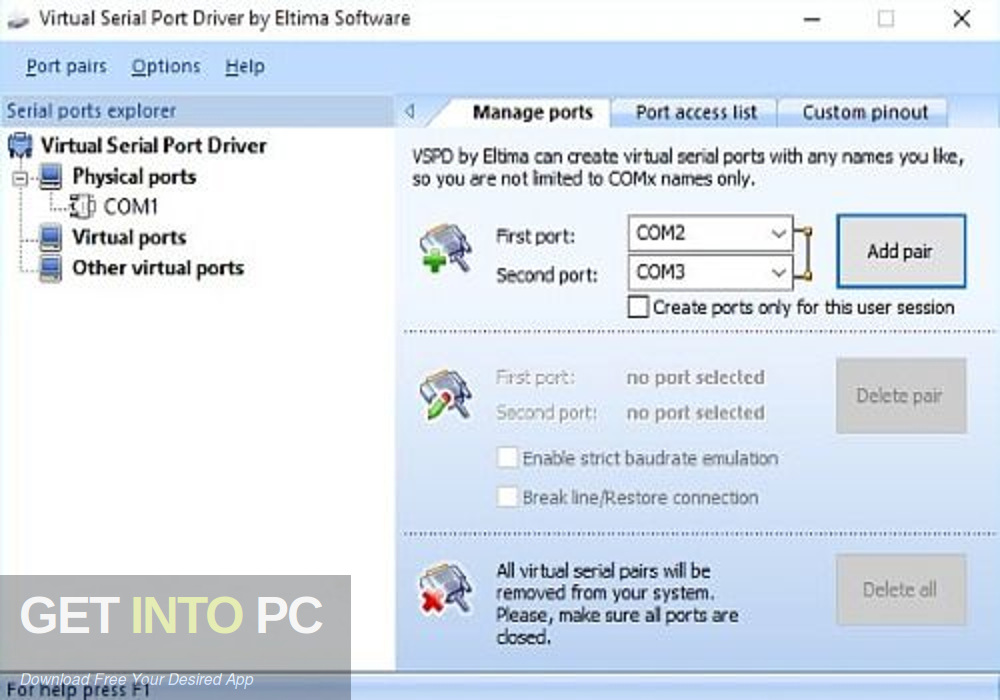Virtual Serial Ports Driver XP Direct Link Download-GetintoPC.com