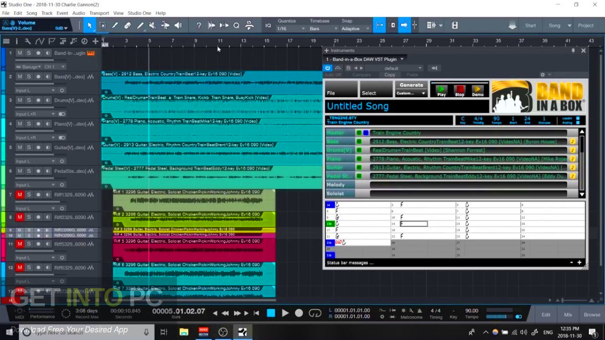 Band-in-a-Box 2019 + RealBand + RealTracks Sets 301-328 + Update Offline Installer Download-GetintoPC.com