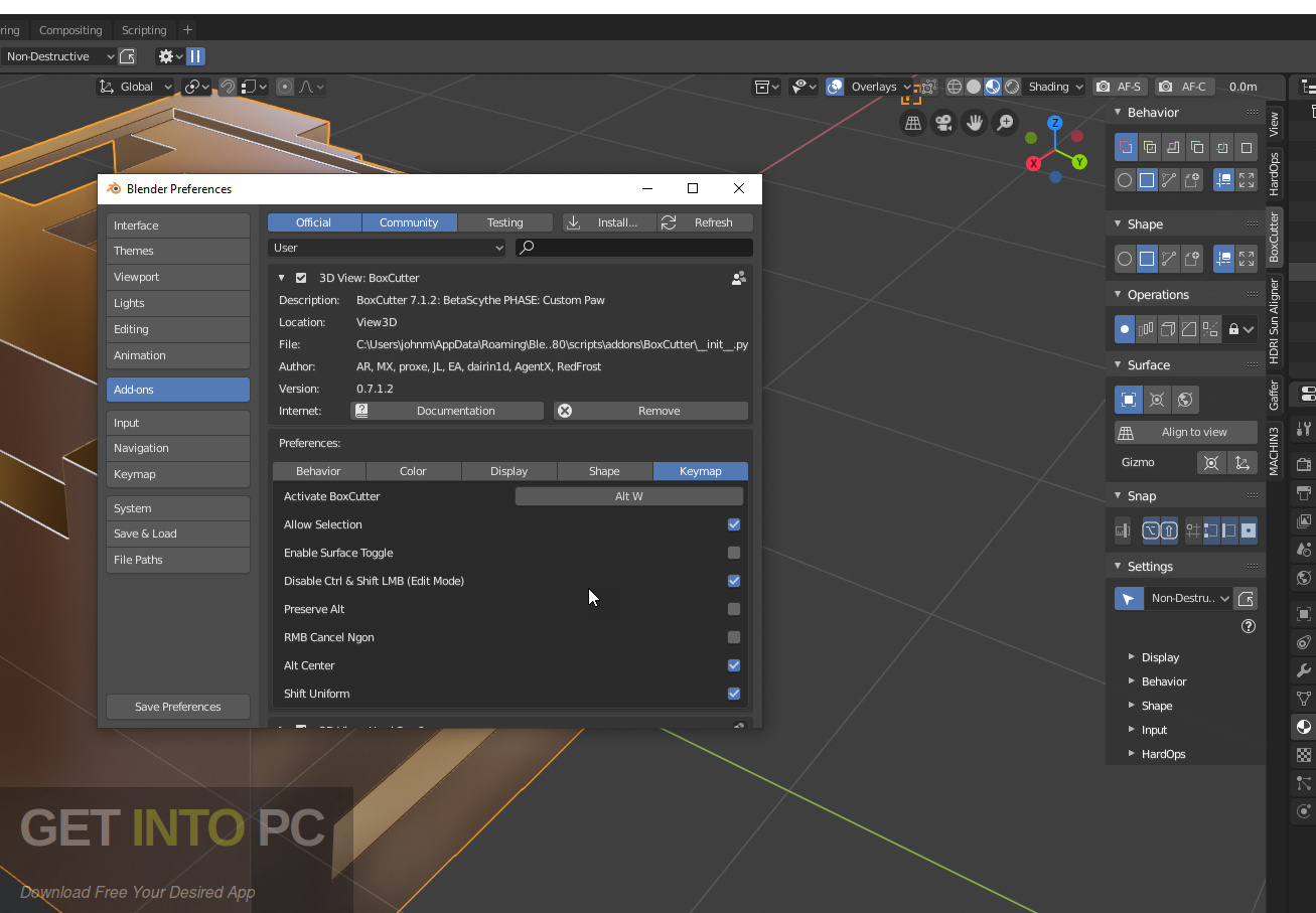 BoxCutter Addon for Blender Direct Link Download-GetintoPC.com
