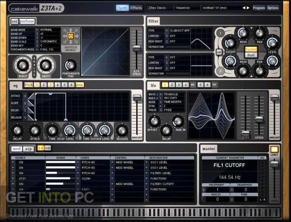 Cakewalk - Z3TA+ 2 VST Direct Link Download-GetintoPC.com