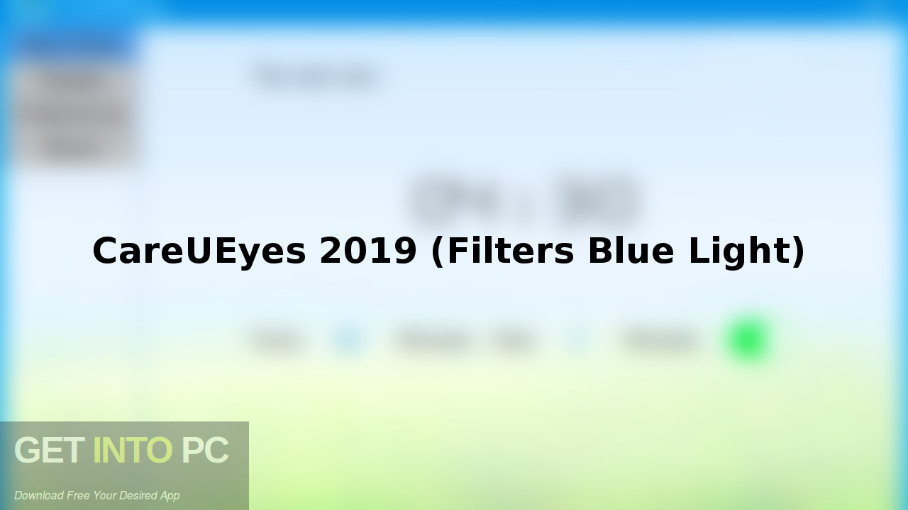 CareUEyes 2019 (Filters Blue Light) Free Download-GetintoPC.com