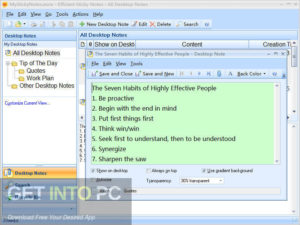 Efficient Sticky Notes Pro 2019 Free Download-GetintoPC.com