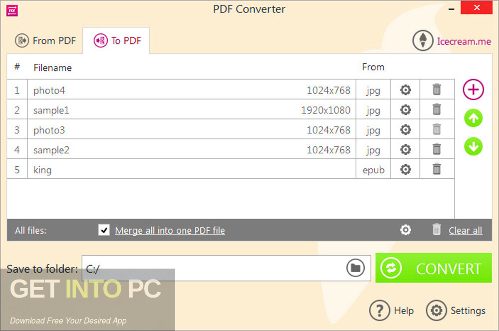 Icecream PDF Converter Pro 2019 Free Download