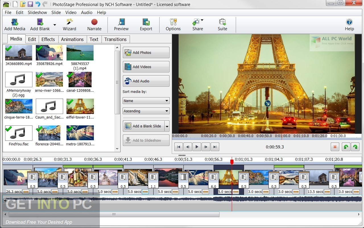 NCH PhotoStage Slideshow Producer Professional Offline Installer Download-GetintoPC.com