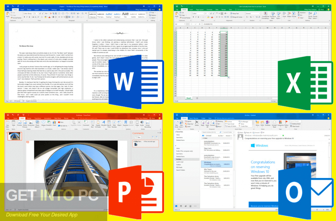 Office 2019 Professional Plus Updated Aug 2019 Direct Link Download-GetintoPC.com
