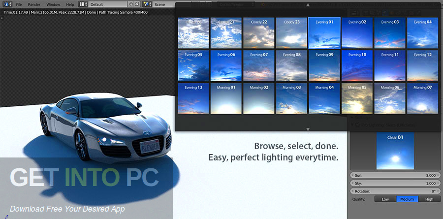 Pro Lighting Skies Ultimate for Blender Direct Link Download-GetintoPC.com