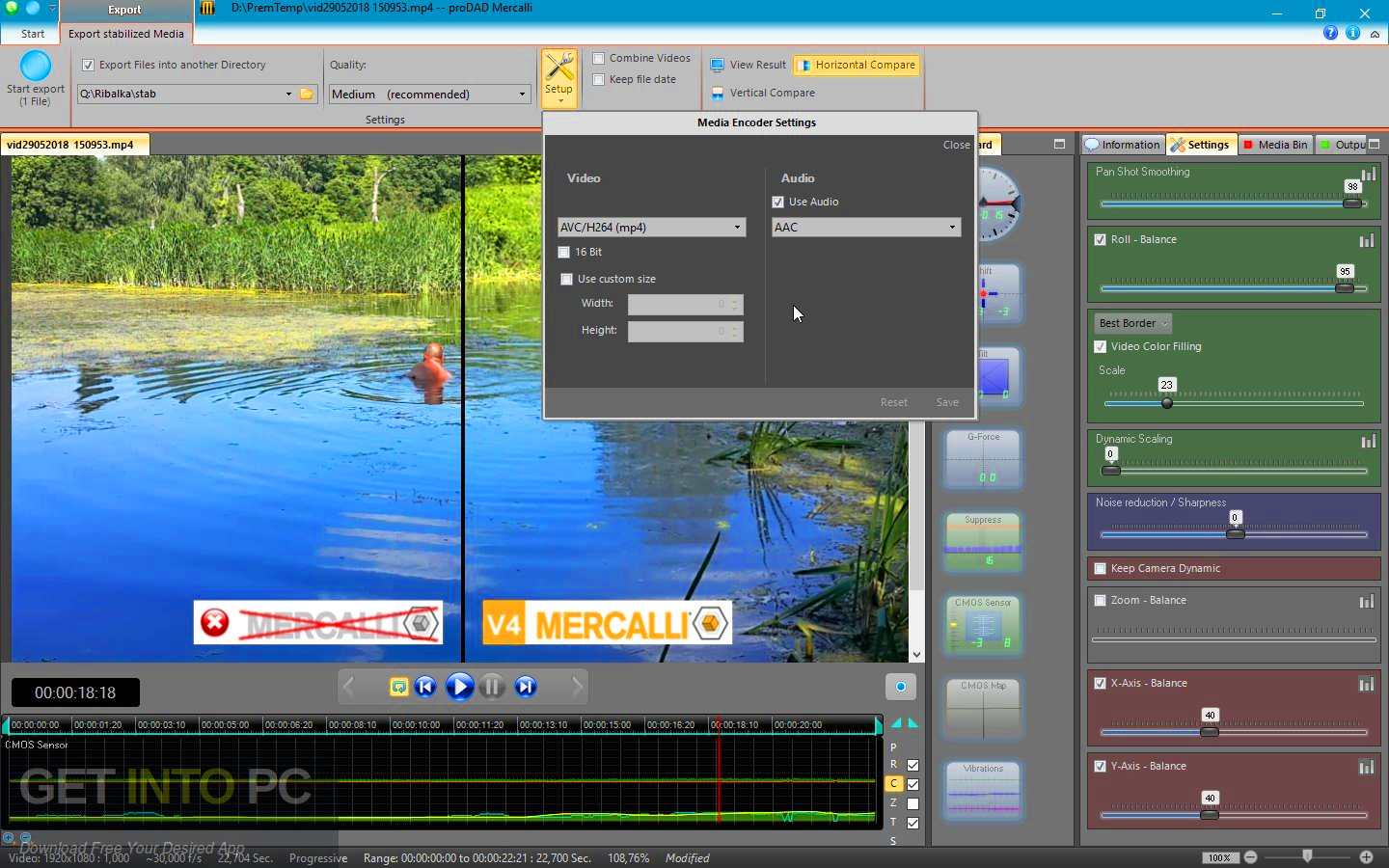 ProDAD Mercalli V4 Video Stablizer + CMOS Correction 2018 Latest Version Download-GetintoPC.com