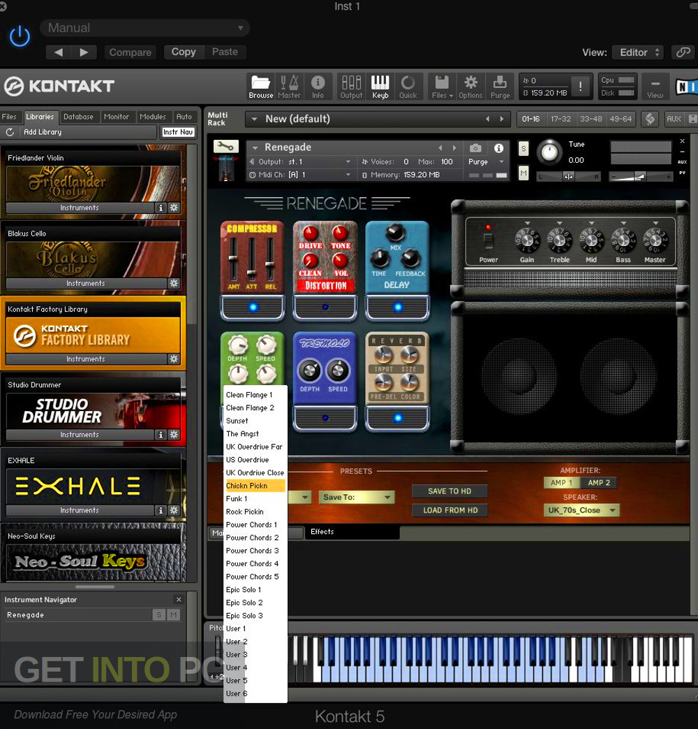 Renegade Electric Guitar (KONTAKT) Offline Installer Download-GetintoPC.com