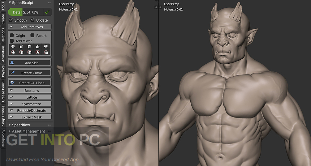 SpeedSculpt for Blender Direct Link Download-GetintoPC.com