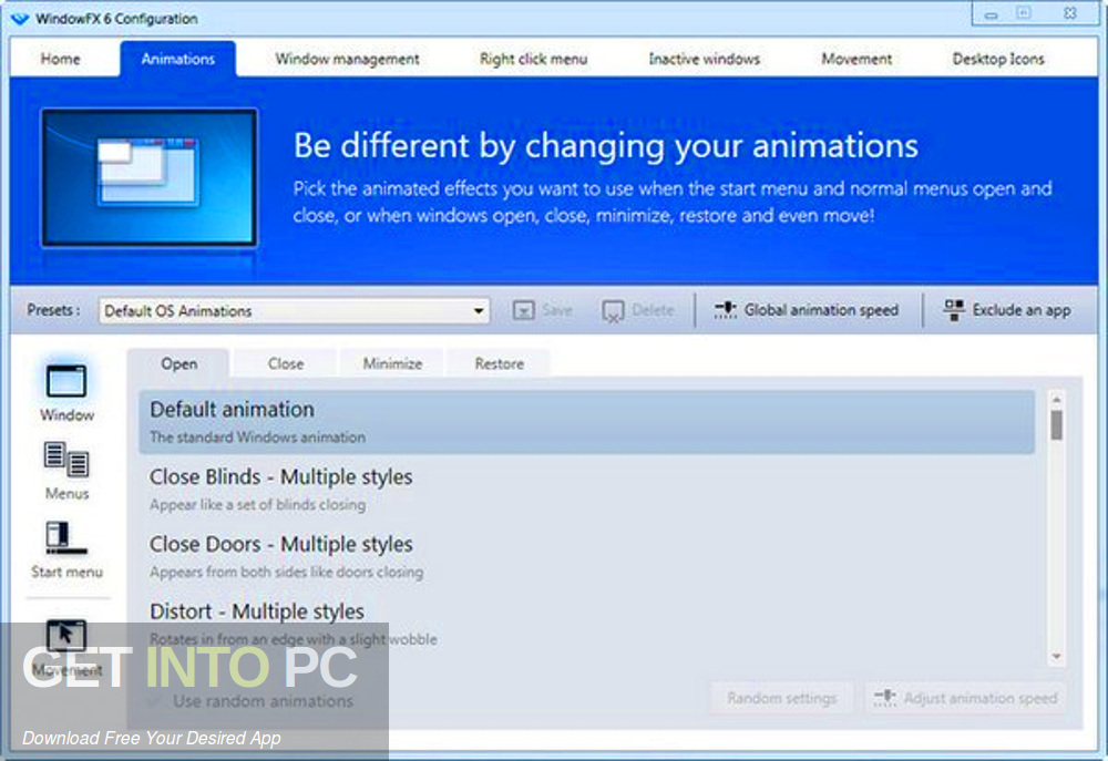 Stardock WindowFX 6.05 Direct Link Download-GetintoPC.com
