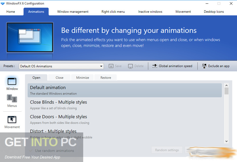Stardock WindowFX 6.05 Latest Version Download-GetintoPC.com