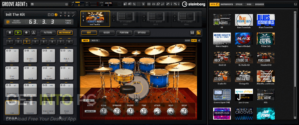 Steinberg - Groove Agent VST Latest Version Download-GetintoPC.com