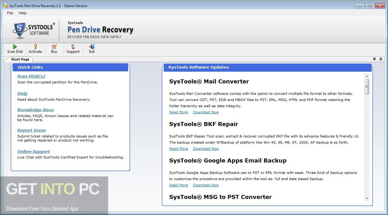 SysTools Pen Drive Recovery 2019 Offline Installer Download-GetintoPC.com