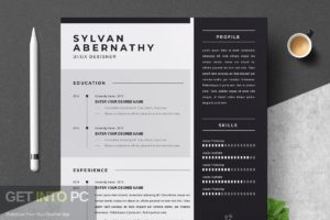 Templates CreativeMarket Professional Resume CV Template Direct Link Download-GetintoPC.com