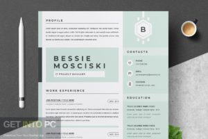 Templates CreativeMarket Professional Resume CV Template Free Download-GetintoPC.com