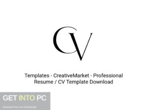 Templates CreativeMarket Professional Resume CV Template Latest Version Download-GetintoPC.com