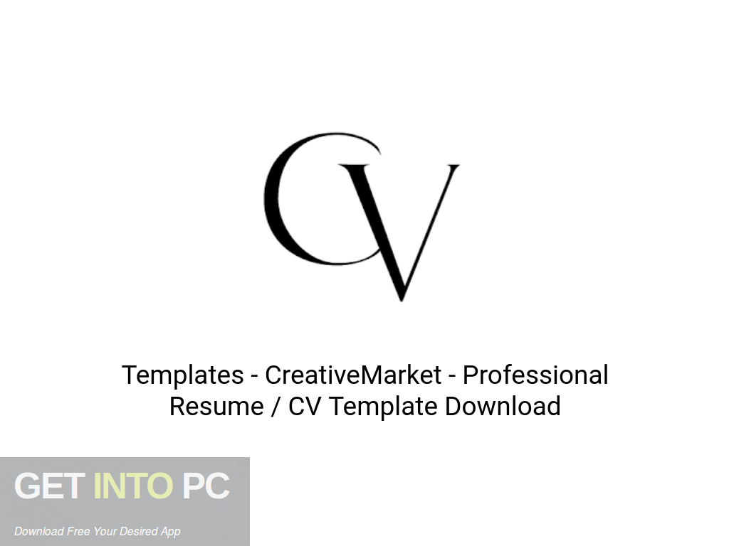 templates - creativemarket   cv template download