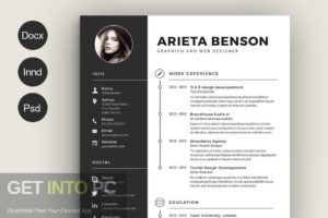 Templates CreativeMarket Professional Resume CV Template Offline Installer Download-GetintoPC.com