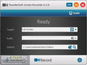 ThunderSoft Screen Recorder Pro 2019 Offline Installer Download-GetintoPC.com