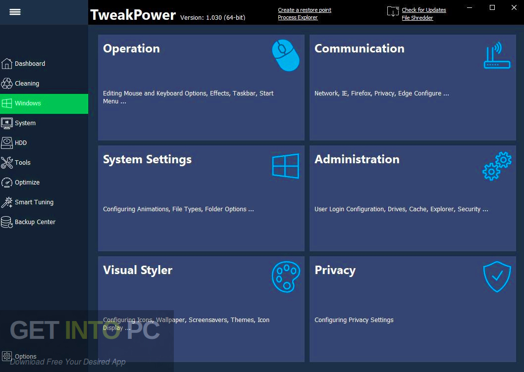 TweakPower 2019 Latest Version Download-GetintoPC.com