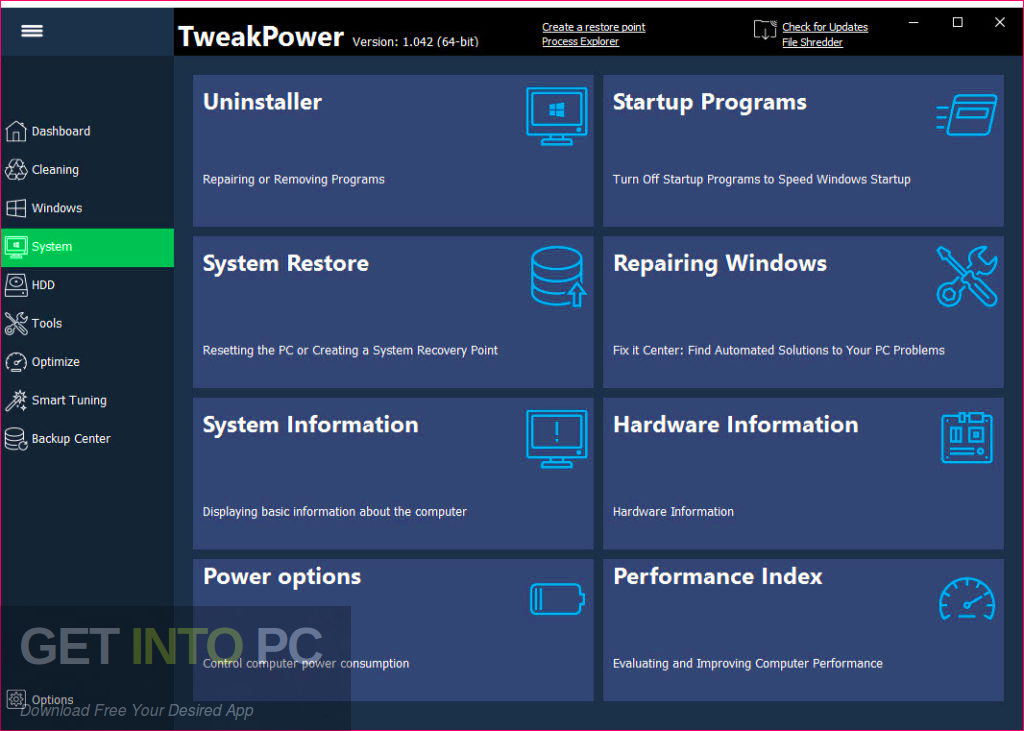TweakPower 2019 Offline Installer Download-GetintoPC.com