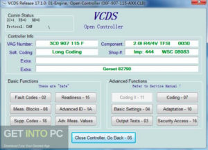 VCDS 17.1 HEX CAN USB Interface For VW Audi Seat Skoda 2017 Free Download-GetintoPC.com