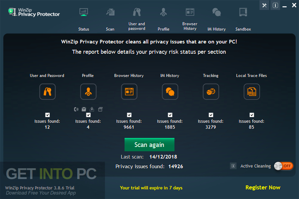 WinZip Privacy Protector Premium 2019 Direct Link Download-GetintoPC.com