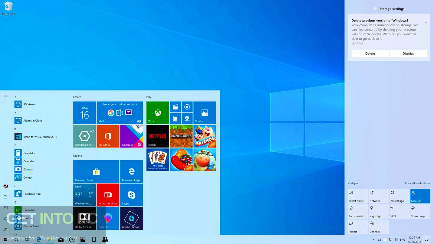 Windows 10 19H1 Updated Aug 2019 Latest Version Download-GetintoPC.com