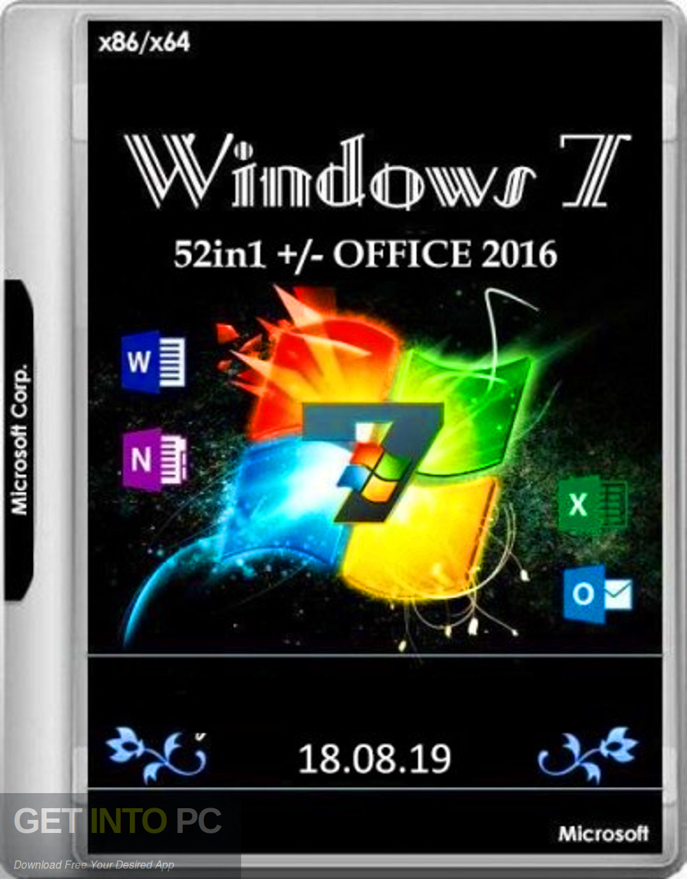 Windows 7 SP1 52in1 + Office 2016 Updated Aug 2019 Free Download-GetintoPC.com