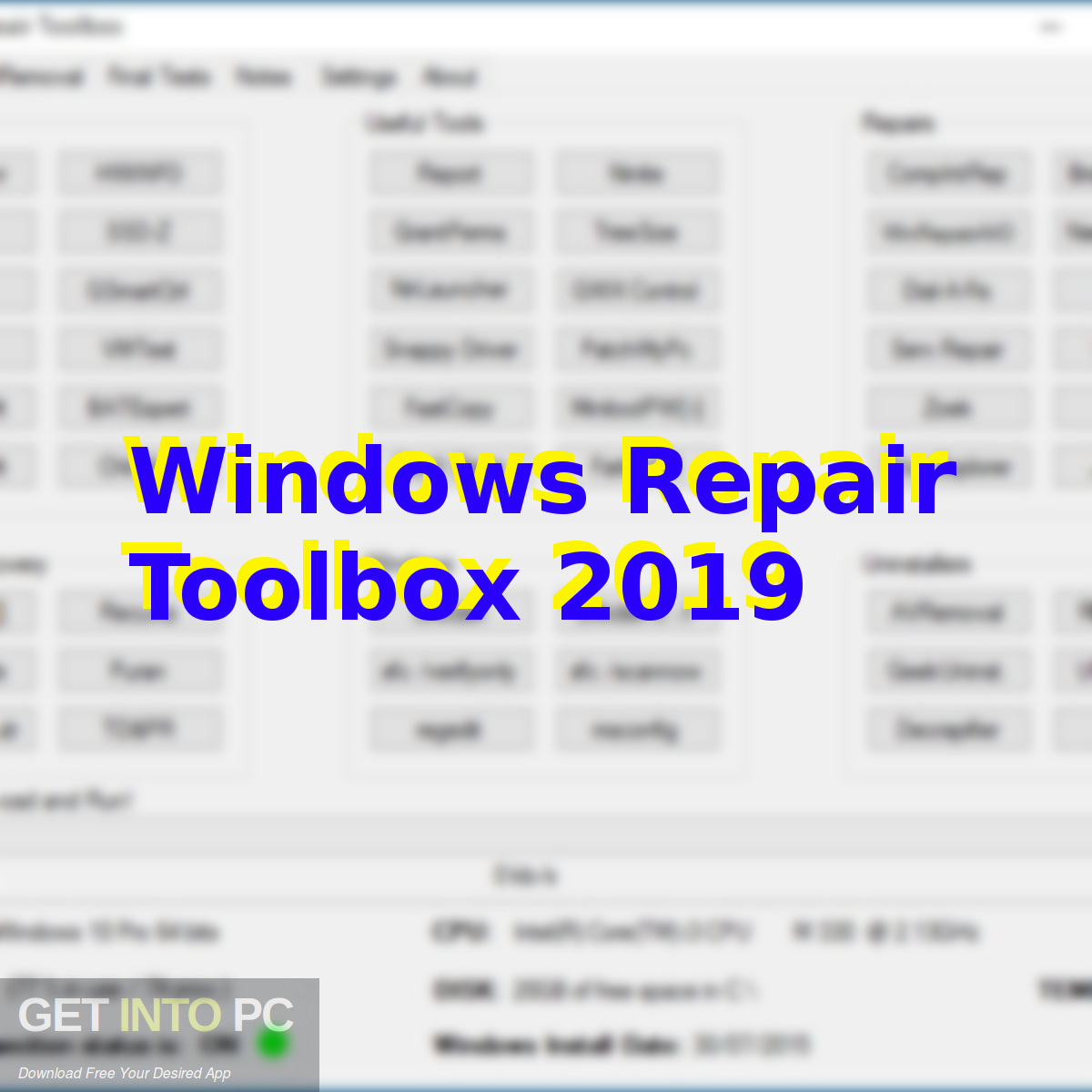 Windows Repair Toolbox 2019 Free Download-GetintoPC.com