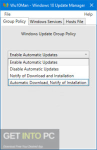 Wu10Man - Windows 10 Update Manager 2019 Offline Installer Download-GetintoPC.com