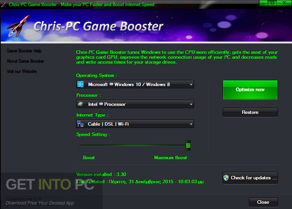 Chris-PC Game Booster Latest Version Download-GetintoPC.com