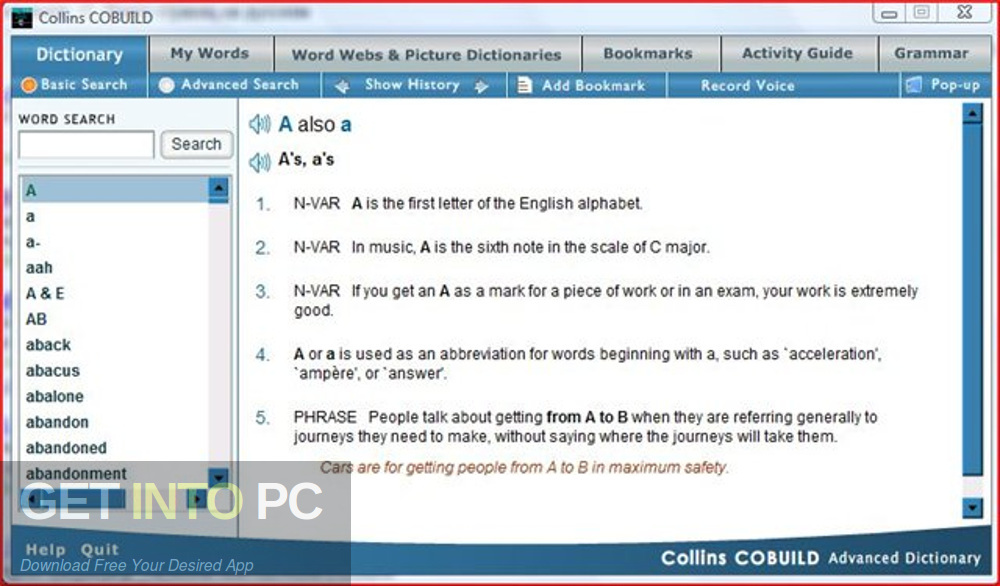 Collins COBUILD Advanced Dictionary 2009 Direct Link Download-GetintoPC.com