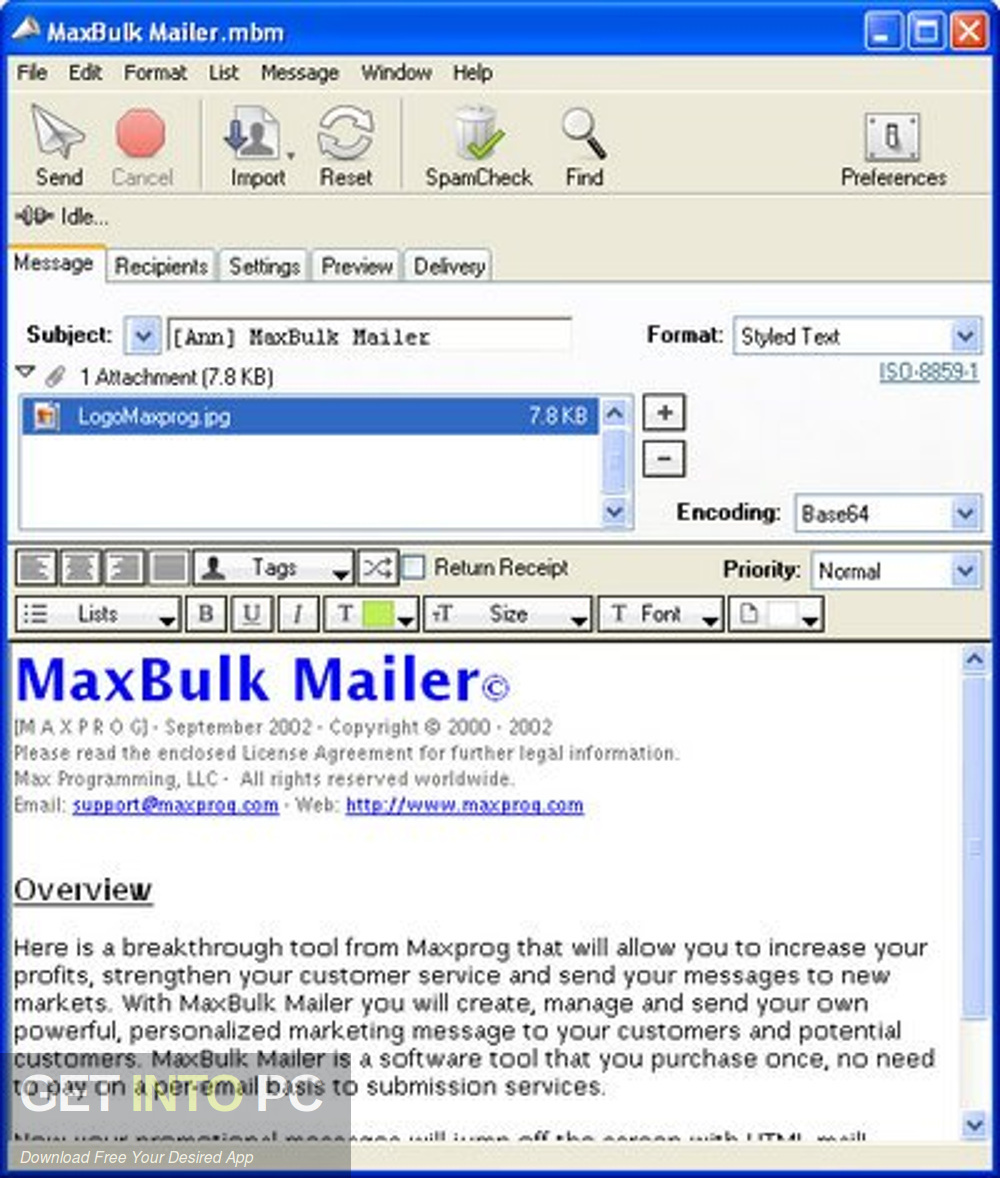 MaxBulk Mailer Pro Latest Version Download-GetintoPC.com