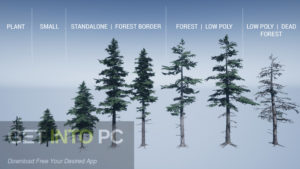 Mountain Trees Dynamic Nature Asset for Unity Free Download-GetintoPC.com