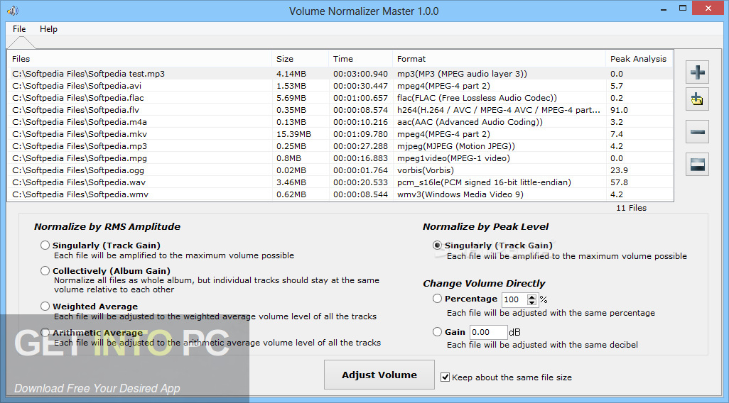 Volume Normalizer Master Direct Link Download-GetintoPC.com