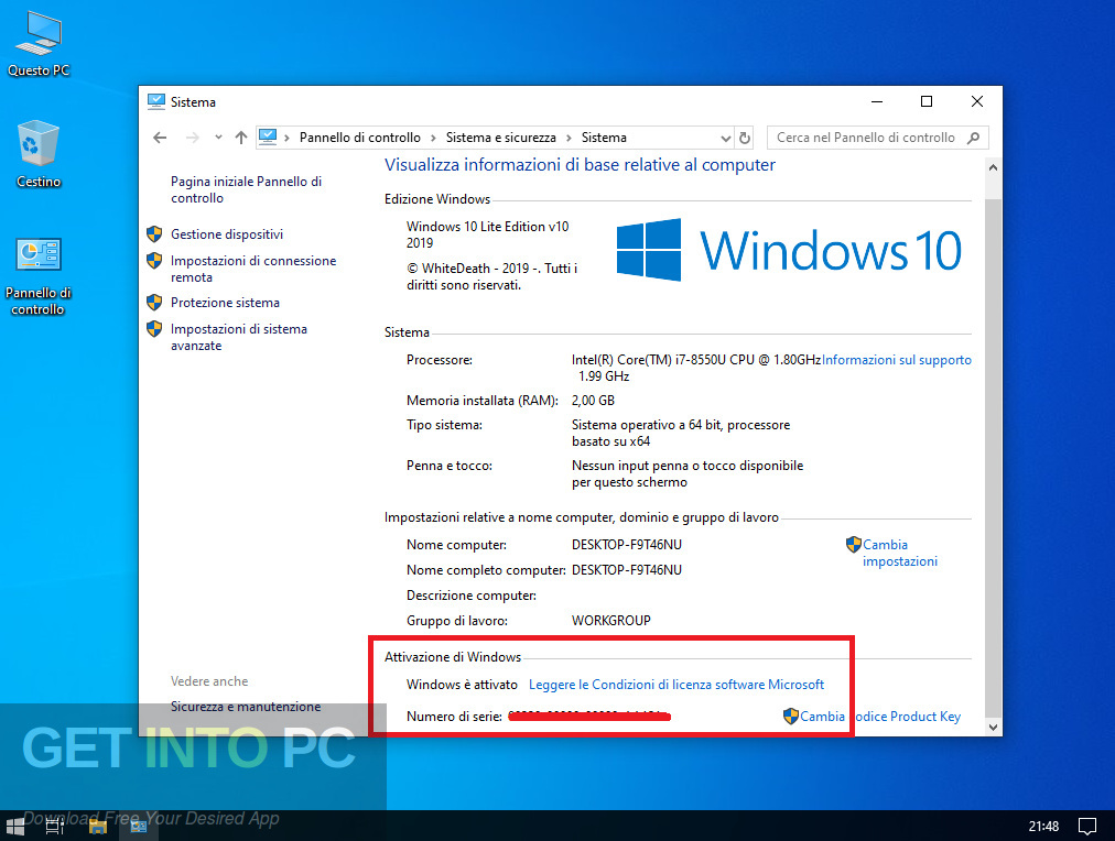 Windows 10 Lite Edition 2019 v10 Latest Version Download-GetintoPC.com