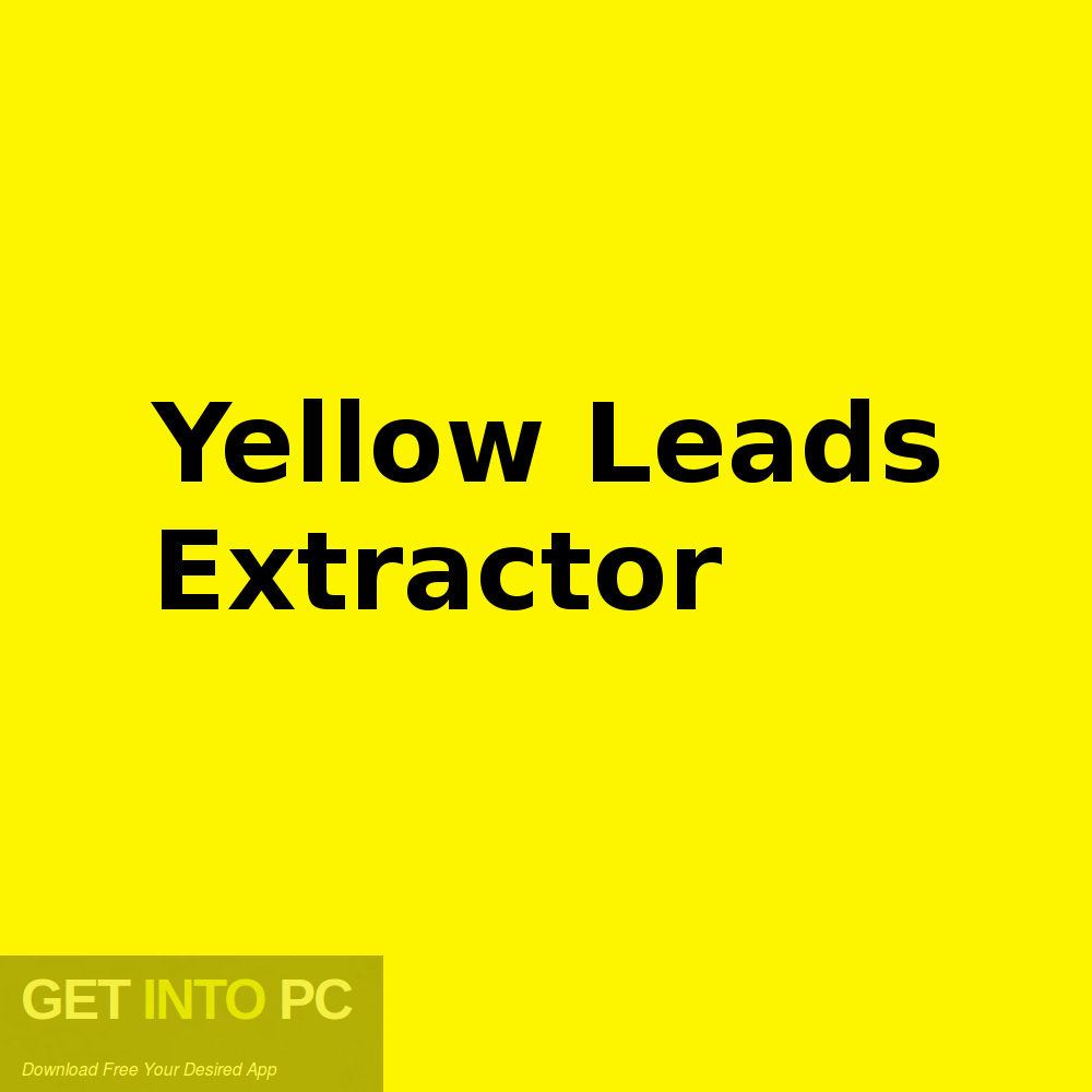Yellow Leads Extractor Free Download-GetintoPC.com