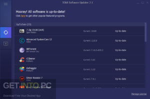 IObit Software Updater Free Download-GetintoPC.com