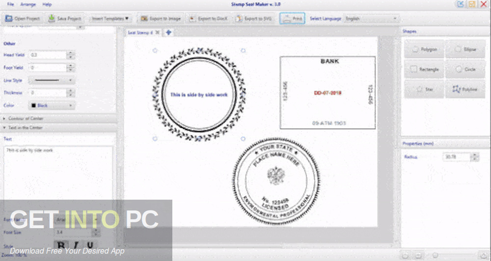 Stamp Seal Maker Direct Link Download-GetintoPC.com