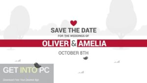 VideoHive - Save The Date Video Wedding Invitation Free Download-GetintoPC.com