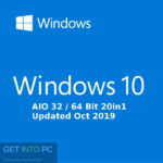 Windows 10 AIO 32 / 64 Bit 20in1 Updated Oct 2019 Download