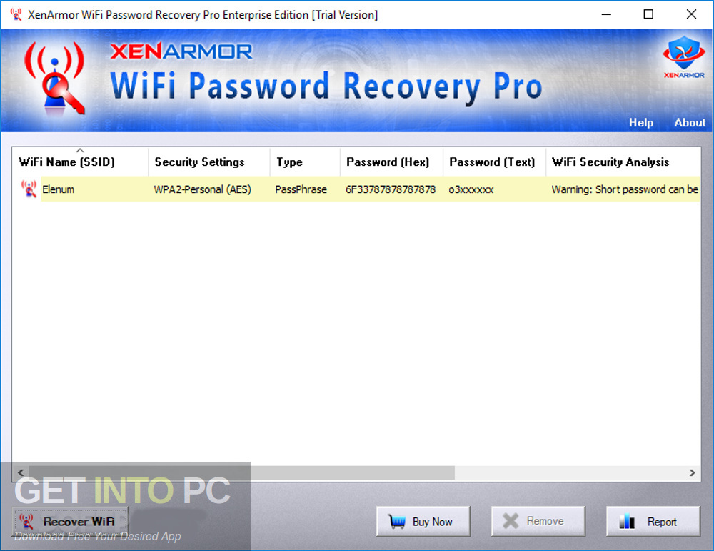 XenArmor WiFi Password Recovery Pro Enterprise 2018 Direct Link Download-GetintoPC.com