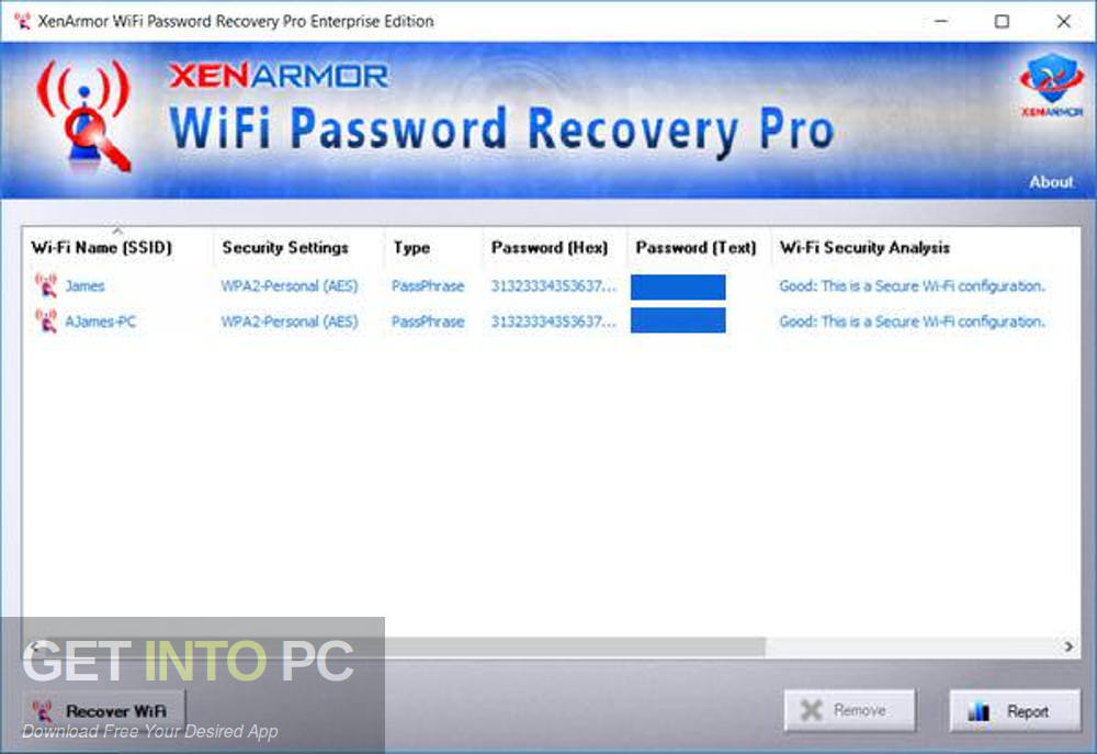 XenArmor WiFi Password Recovery Pro Enterprise 2018 Latest Version Download-GetintoPC.com