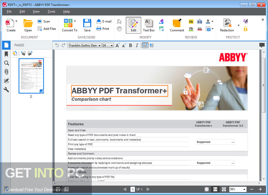ABBYY PDF Transformer Latest Version Download-GetintoPC.com