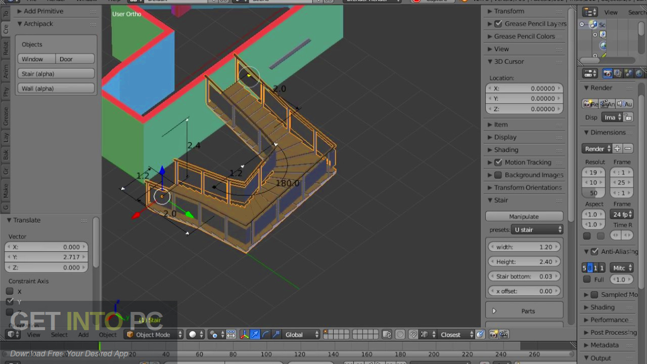 Archipack Addon for Blender Direct Link Download-GetintoPC.com