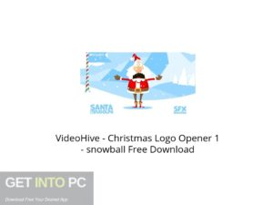 VideoHive Christmas Logo Opener 1 Snowball Latest Version Download-GetintoPC.com