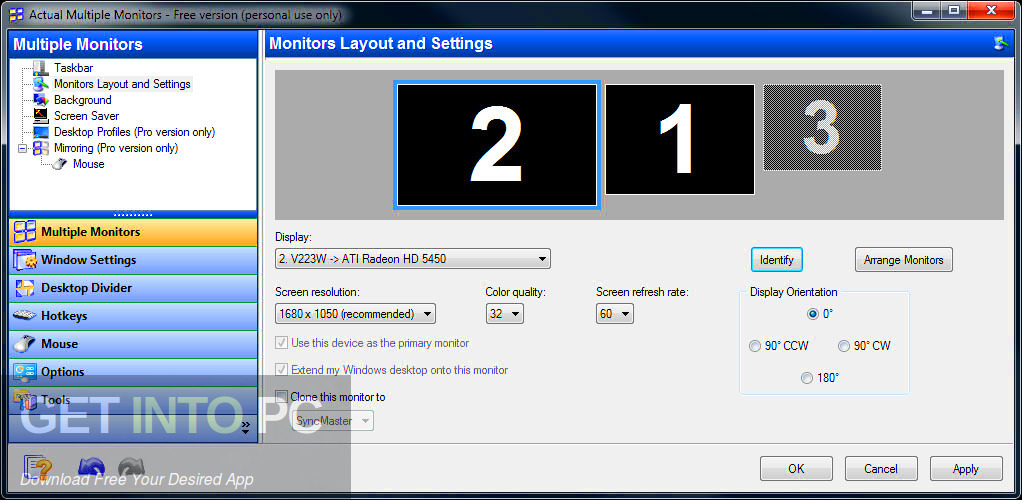 Actual Multiple Monitors Offline Installer Download-GetintoPC.com