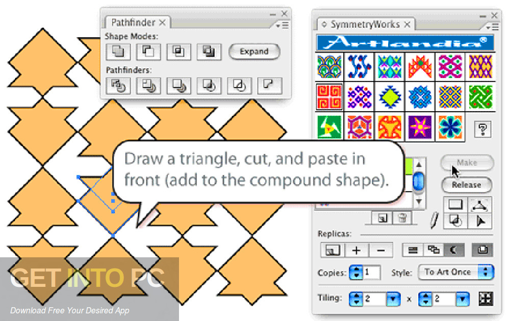 Artlandia SymmetryWorks Plugin for Adobe Illustrator Latest Version Download-GetintoPC.com